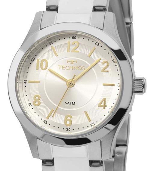 Relógio Technos Prateado Feminino 2035mfu/3k Elegance + Nfe