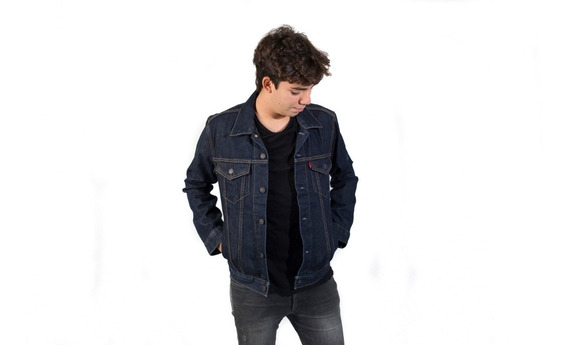 Campera De Hombre The Trucker Jacket Jean Azul