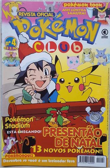 Revista Pokemon Club Numero 4 Hq Gibi Manga Pikachu Oficial.
