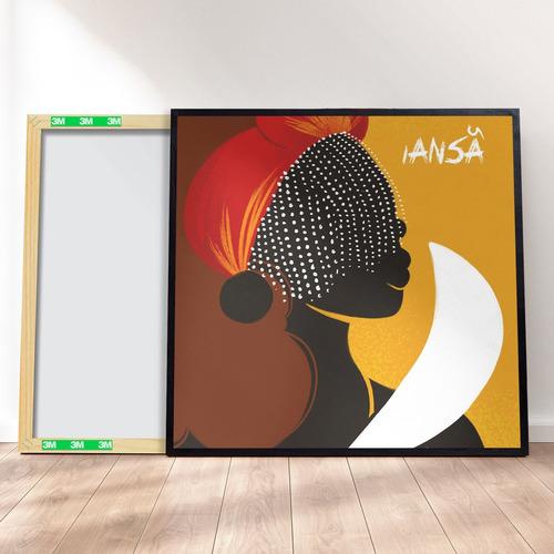 Imagem 1 de 4 de Quadro Decorativo 40x40 - Orixá Candomblé Iansã