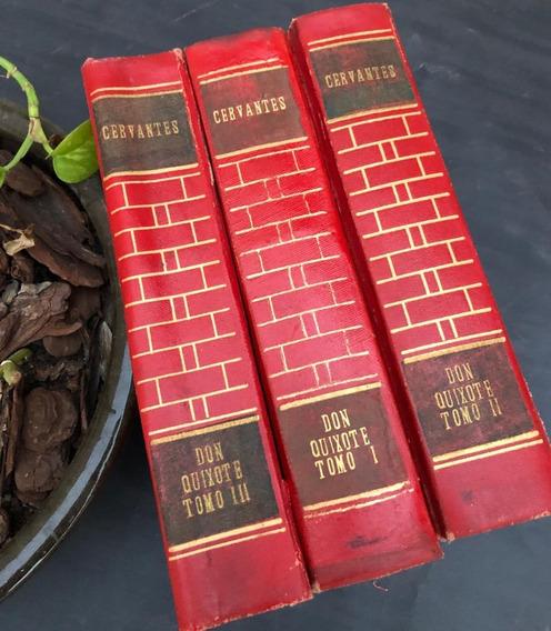 Dom Quixote De La Mancha Clássico Antigo Raro (3 Volumes)