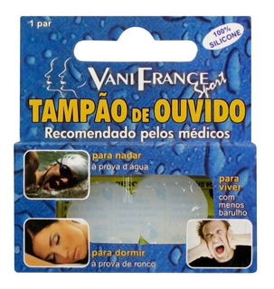 Prot Auricular Ouvido Silicone Kit C/4 C/2pares Vanifrance