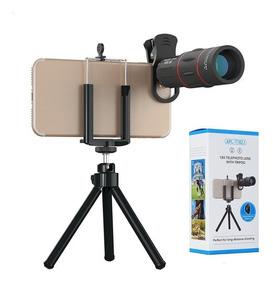 Lente Telescópio Para Celular Zoom 18x Universal Com Tripé