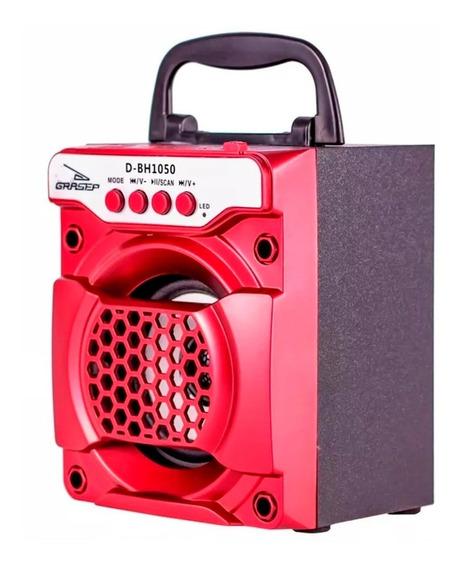 Caixa Som Portátil Bluetooth 8w Rms Celular Sd Usb Radio Fm