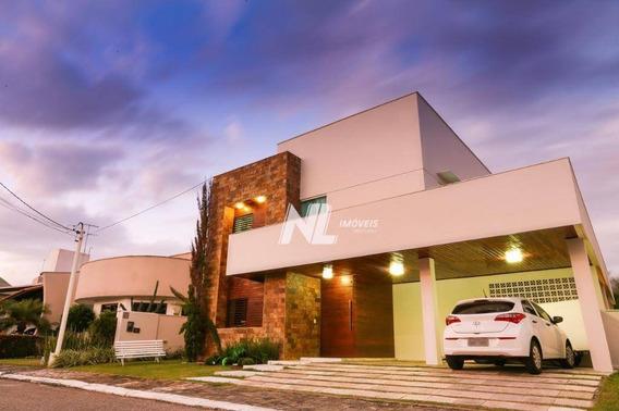 Casa Alto Padrão Em Condomínio Fechado Com 3 Suítes À Venda Em Lagoa Nova, Natal - Ca0306