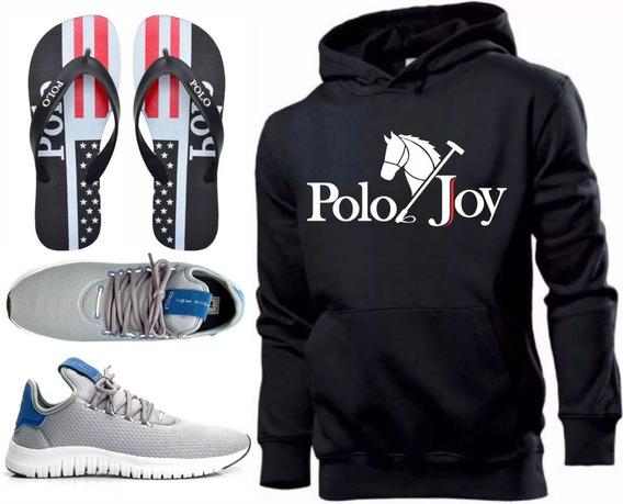 Tenis Masculino Moletom Polo Joy Promoção Com Chinelo!!