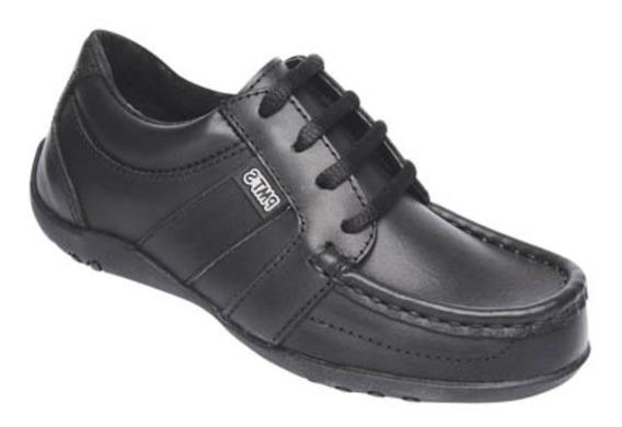 Zapato Prusiano Costura Italiana Negro Plumitas Colegial