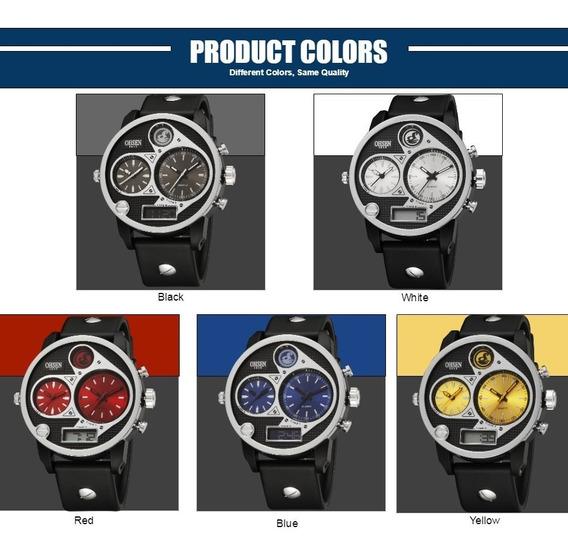 Ohsen Reloj Masculino Digital Led Homens De Quartzo Relógio