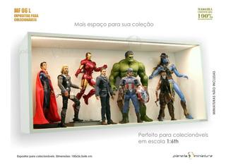 Expositor Estante Planeta Action Hot Toys Iron Show 1:6 Led