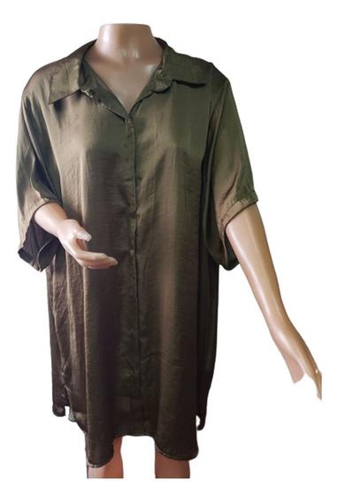 Camisas De Raso Talles Especiales - Karina