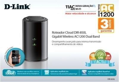 Roteador D-link Wireless Ac 1200 Gigabit Dual Banddir- 850l