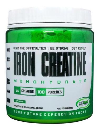 Creatina 300g Ironwork - Iron Creatine Monohidratada Powder