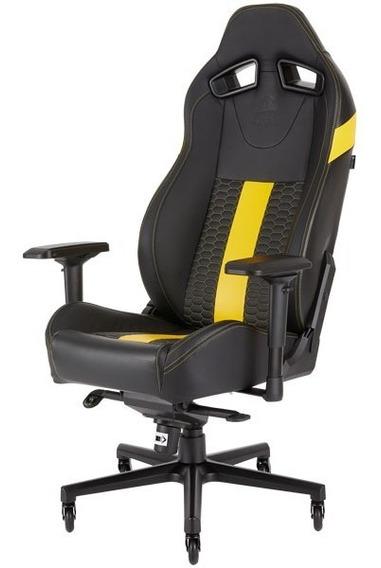 Cadeira Gamer Corsair Preta Com Amarela Ultra Confortável