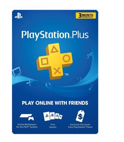 Membresia Playstation Plus 3 Meses