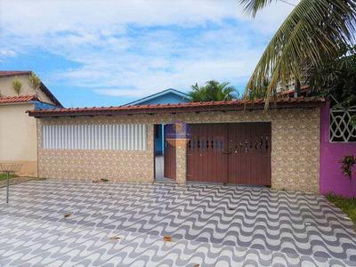 Casa Isolada Com 03 Dormitórios, Espaço Gourmet + Piscina Com Cascata - Lado Praia - À Venda, Balneário Itaoca, Mongaguá. - V59015205