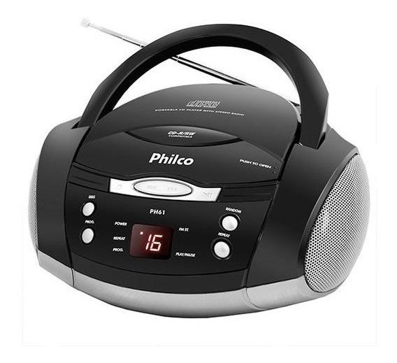 Som Portátil Philco Ph61 Cd Player / Rádio Fm / Mp3 / Aux In