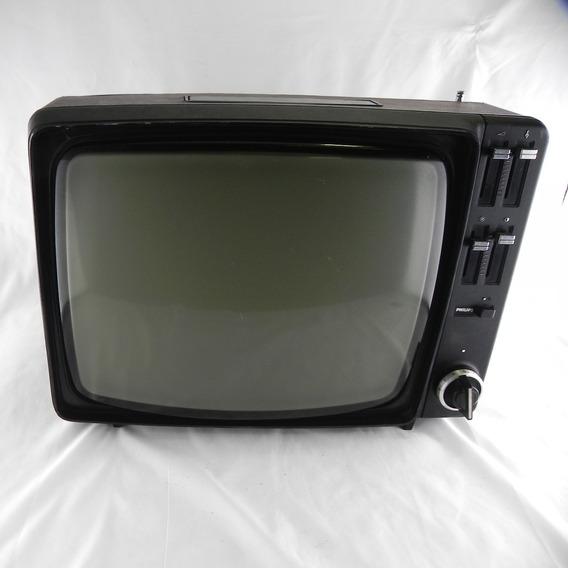 Tv Antiga Philips Decoração C/ Defeito Rara Antiguidade