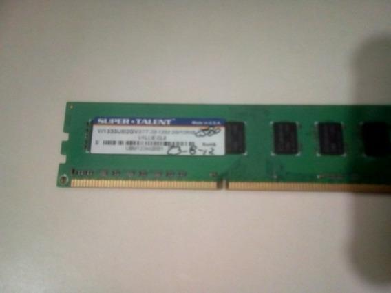 Memoria Ram Ddr3 1333 2gb Super Talent 8v