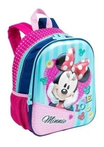 Mochila Escolar Infantil Minnie 3d Costas 17x Disney Sestini