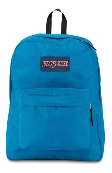 Mochila Jansport Original Superbreak 25 L. Color: Blue Crest