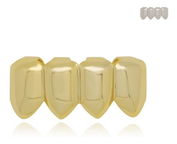 Grillz Hip Hop Diamond Resina Snap Smile Dentes Baixo 4