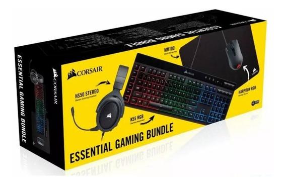 Combo Gamer Corsair 4x1 Mouse+teclado+fone+pad Ch-9226315-br