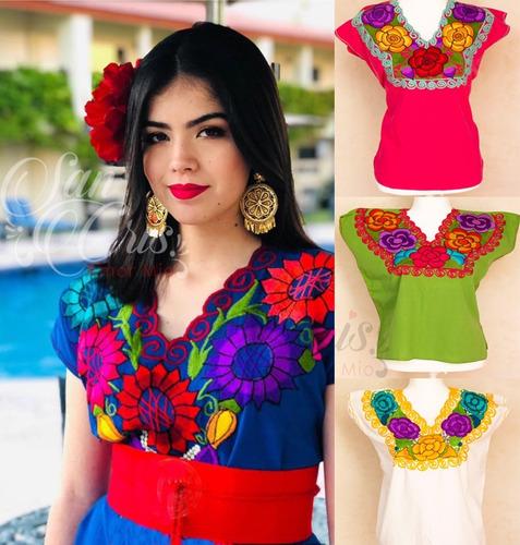Imagen 1 de 10 de Lote 26 Blusas Artesanal Típica Mexicana Bordada Chiapas X.