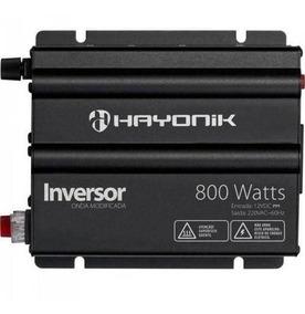 Inversor 12vdc/220v Usb 800w Hayonik Onda Modificada