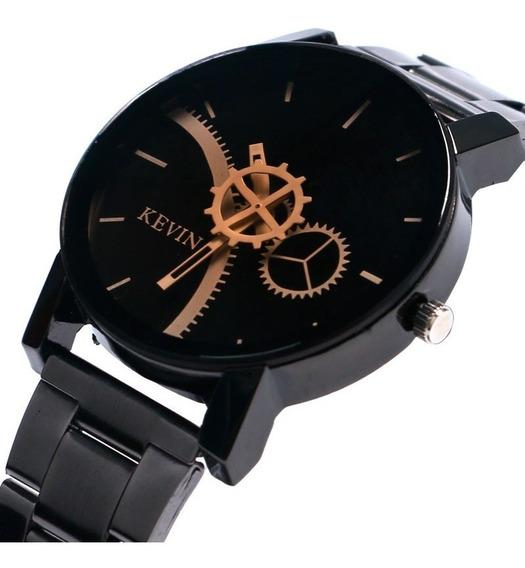 Reloj Acero Marca Kevin Hombre Caballero Ingeniero Engranes