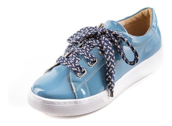 Tênis Feminino Flatform Azul Denim