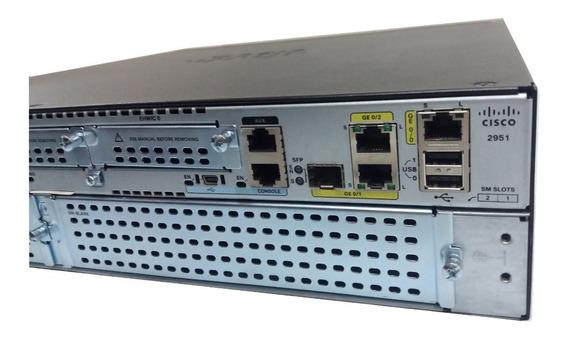 Roteador Cisco 2951/k9 C/ Licença Security Envio Imediato