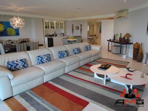 Apartamento Com 4 Dormitórios À Venda, 281 M² Por R$ 7.075.000,00 - Riviera - Módulo 6 - Bertioga/sp - Ap2258