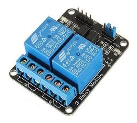 Modulo Relé 2 Canais 5v Para Arduino, Raspberry Pi