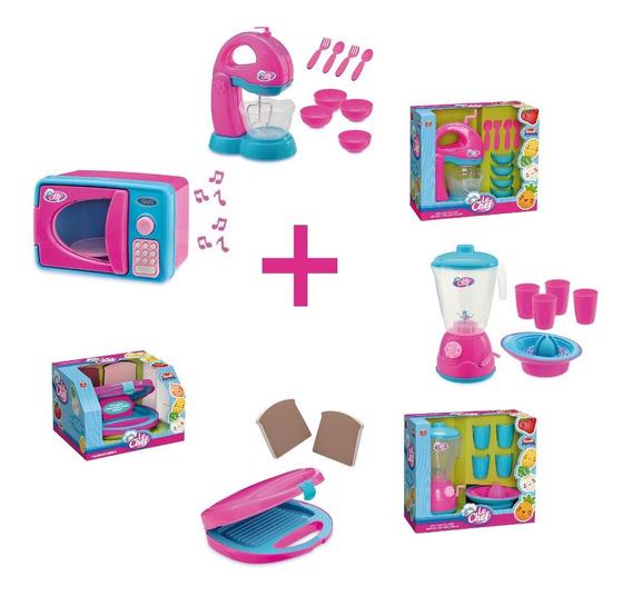 Kit Cozinha Infantil 4 Brinquedos Vários Acessórios Classic