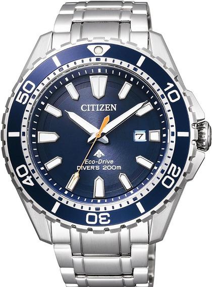Relógio Masculino Citizen Bn0191-55l Diver Eco Drive Azul
