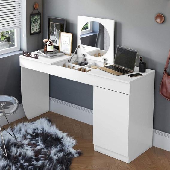 Escrivaninha Penteadeira Com Espelho Dari Siena Fbwt