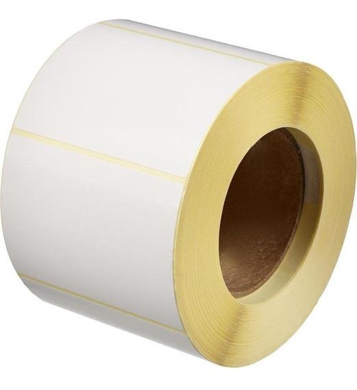 Rollo De Etiquetas 100x80 X500 Blancas Ilustración