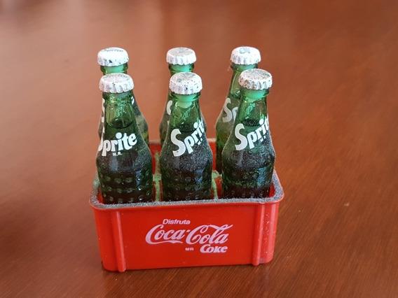 Caja De Mini Coca Cola Con 6 Sprite