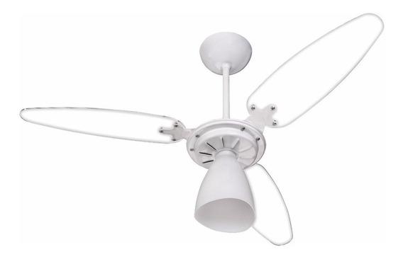 Ventilador de teto Ventisol Wind Light branco com 3 pás cor transparente de plástico, 96cm de diâmetro 127V