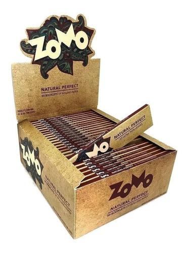 3 Caixa Fechada Seda Smoking Brown Zomo Brown Paper C/50cada
