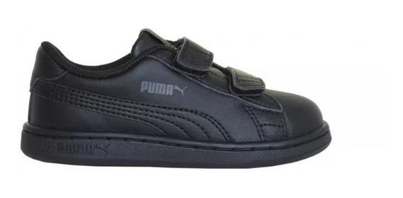 Puma Zapatillas Lifestyle Infantil Smash V2 L Negro