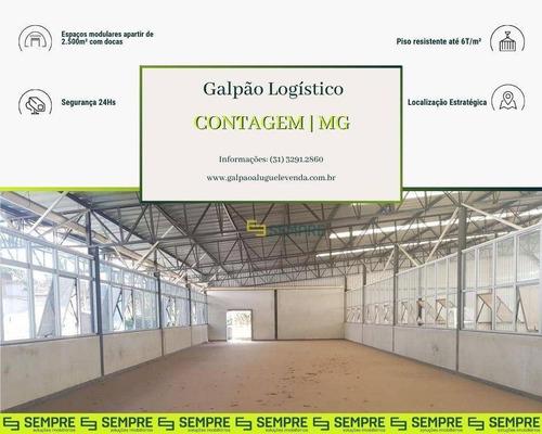 Imagem 1 de 17 de Galpão Para Alugar, 2.500 M² - Chácara Cotia - Contagem/mg - Ga0669