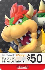 Nintendo Eshop Card - 50 - Dolares - Manvicio Store - !!!