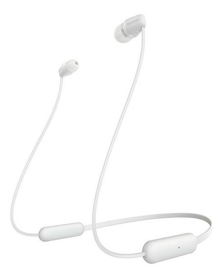 Headphone Sony Intra-auricular Bluetooth Wi-c200 Branco