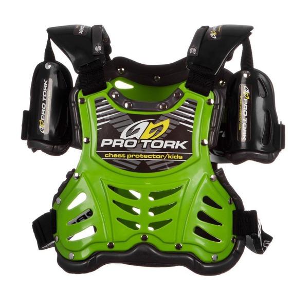Pechera Pro Tork Piloto Infantil Verde Phantom Motos