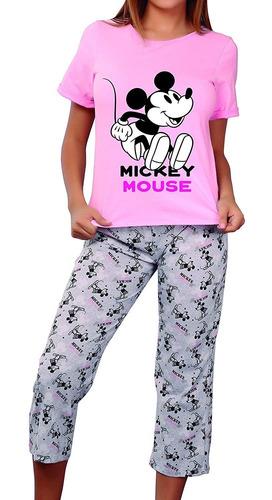 9269 Pijama Para Mujer Disney Mickey Mouse Blusa Y Pantalon Mercado Libre