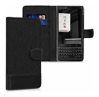 Funda Funda Billetera Kwmobile Para Blackberry Keytwo Key2