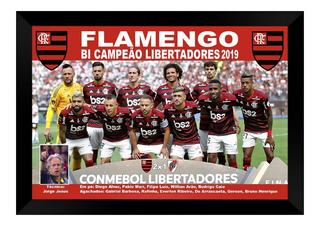 Kit 2 Quadros Poster Flamengo Campeão 2019 40x60cm Promoção