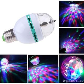 Lampara Giratoria Rgb Led Esfera Bola Luz Colores E27 220v