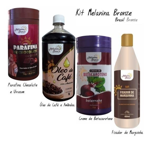 Kit Melanina Bronze Parafina + Betacaroteno